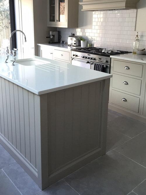 Paris Grey Limestone Kitchen Floor
