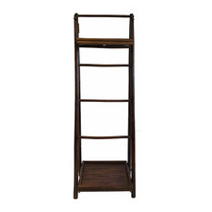 Mahogany Bamboo Ladder Shelf