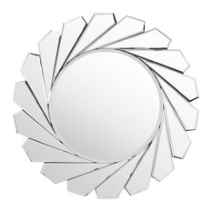 Milton - Sunburst Folded Wall Mirror, 80x80 cm - Wall Mirrors