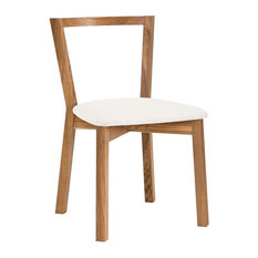 Cee Dining Chair, Oak and White