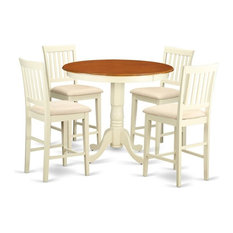 5-Piece Counter Height Dining Room Set Dinette Table And 4 Bar Stools
