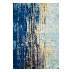 Katharina, Machine Made Area Rug, Blue, 10'x14'