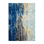 "Katharina, Machine Made Area Rug, Blue, 5""x7"