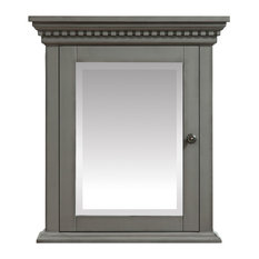 """Avanity Hastings 24"""" Mirror Cabinet, French Gray"""