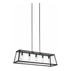 Feiss Harrow 5-Light Island Chandelier, Oil Rubbed Bronze