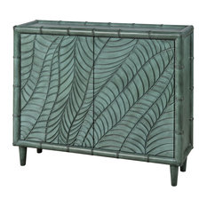 Stein World Transitional Puncak Cabinet In Green Finish 17141