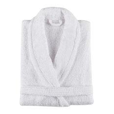 New Plus Bath Robe, White, Small