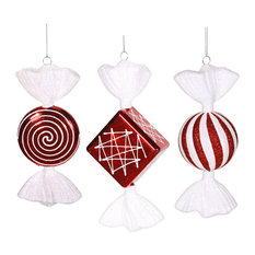 """Vickerman 8"""" Peppermint Candy Assorted, Set of 3"""