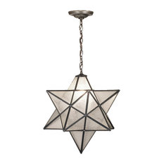 """24"""" Moravian Star Clear Seeded Pendant"""