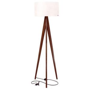 Tripod Floor Lamp, Walnut and White