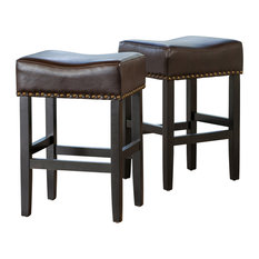 gdfstudio chantal leather counter stools set of 2 brown bar stools and
