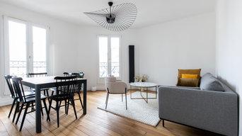 Rénovation complète d'un appartement de 3 pièces dans le 14ème