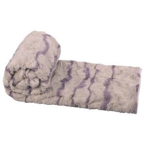 """Calla Jumbo Faux Fur Throw Blanket, Calla, 60""""x80"""""""