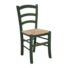 Solid Beechwood Dining Chair, Green
