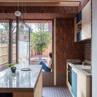 Design ideas for a midcentury kitchen in London.
