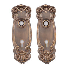 Avalon Keyed Back Plates, Hand Antiqued Brass