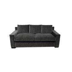 Modern Styled Sofa, Coffee, Walnut Leg Finish