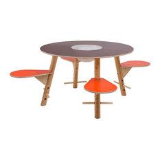 Tavi Play Table, Brown and Orange
