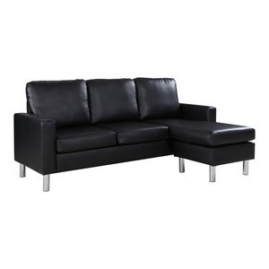 Phenomenal Baxton Studio Dobson Leather Modern Sectional Sofa Gmtry Best Dining Table And Chair Ideas Images Gmtryco