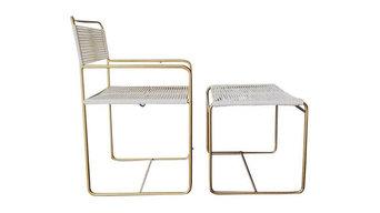 Mid-century Modern Chair & Ottoman set