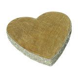 Large Mango Wood Heart Slice
