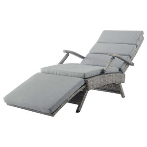 Modern Outdoor Lounge Chair Chaise Rattan Wicker Tropical Outdoor Chaise Lounges By House Bound