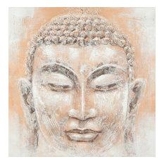 Safavieh Buddha Orange and White Painting