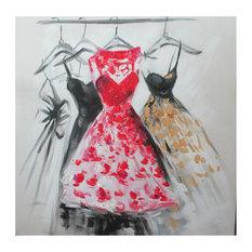 EMDE Dress Painting, Red, 60x60 cm