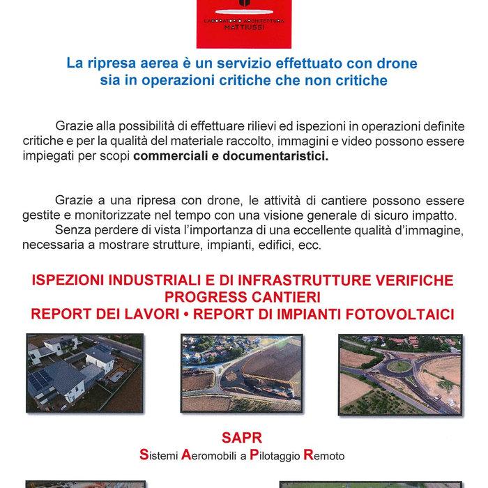 Attività di Rilevamento con DRONE - 2019
