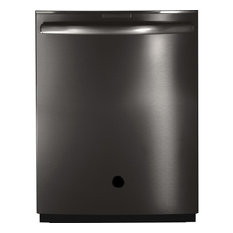 Best Appliance Skins - Brushed Black Stainless Steel-Premium Vinyl Peel Stick Wrap-Dishwasher, 24x30 - Dishwashers