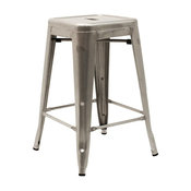 """Atlas French Industrial Stool, 24"""""""