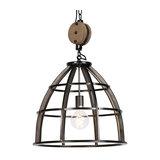 Industrial Round Pendant Lamp Black Steel 48cm - Arthur