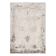 """Vintage Abstract Bleached Rug, Gray, 8'6""""x11'6"""""""