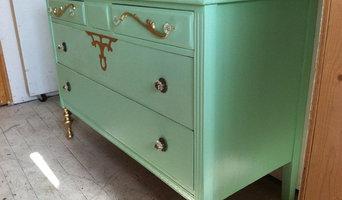 Seafoam Green and Gold Romantic Shabby Chic Dresser