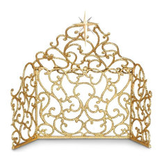 Jay Strongwater Scroll Creche Gold Finish