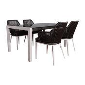 Fernandina Outdoor Table Set, 4 Chairs