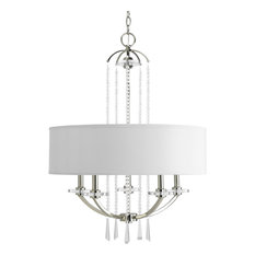 Nisse Collection 5-Light Polished Nickel Pendant Chandelier