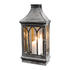 Home Garden Collections - Wall Mount Mirror Candle Lantern, Clear Glass - Candleholders