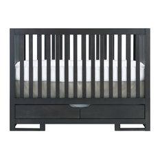 Karla Dubois   OSLO Convertible Crib With Drawers, Chocolate Slate   Cribs