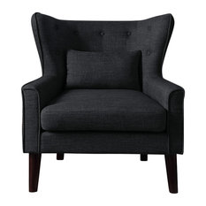 Millett Wingback Chair, Charcoal