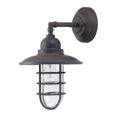 Shipman 1-Light Outdoor Wall Light, Gunmetal