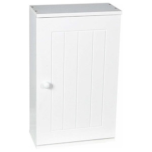 Wall Mounted Storage Cabinet With Door and Inner Shelf, White