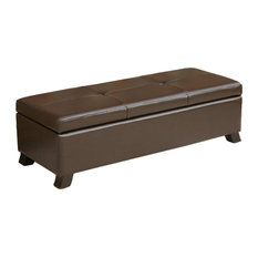 GDFStudio - Canal Leather Storage Ottoman Bench - Accent and Storage Benches  sc 1 st  Houzz & Extra Long Accent u0026 Storage Benches | Houzz
