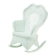 Spice Islands Wicker - Serpentine Rocker, White - Rocking Chairs