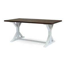 Garrison Rustic Farmhouse Acacia Wood Dining Table