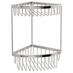 "Valsan Bathrooms - Classic Chrome 2-Tier Corner Basket, 6""x6""x12 1/4"" - The Classic Accessory Collection is a select range of creative and practical products. Designed and developed with careful attention to detail, this diverse collection offers solutions in a stylish and thoughtful way."