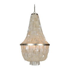 Shell chandeliers houzz elle b emory silver leaf chandelier with capiz shell large chandeliers aloadofball Choice Image