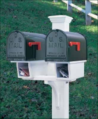 double twin star mail post mailboxes - Mailbox Posts