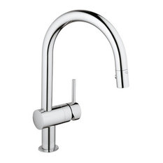GROHE   Grohe 31 378 Minta Pull Down High Arc Kitchen Faucet   Kitchen