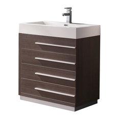 Fresca Livello 30-inch Modern Bathroom Cabinet Gray Oak